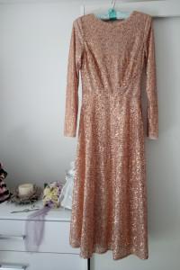 Cekinowa sukienka maxi S
