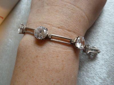 Bransoletki bransoleta srebrna z cyrkoniami
