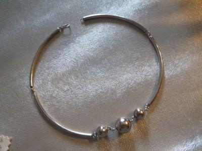 Naszyjniki naszyjnik srebro 3 kulki