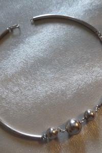 naszyjnik srebro 3 kulki