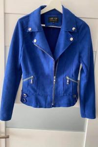 Ramoneska kurtka wiosenna kobaltowa M nowa...