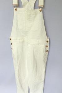 Ogrodniczki Białe L 40 H&M Kombinezon Dzinsowe Rurki Jeans...