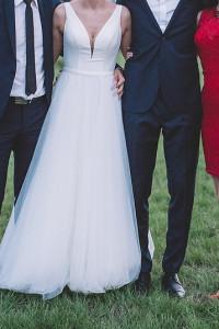 koronkowa sukienka czerwona amisu