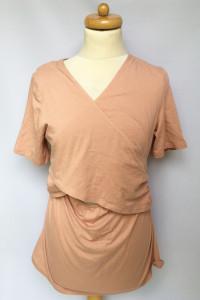 Bluzka Koszulka Do Karmienia M 38 Nowa H&M Mama Brudny Róż...