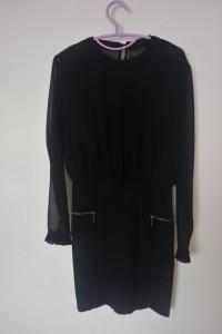 Czarna elegancka sukienka ołówkowa midi 36...