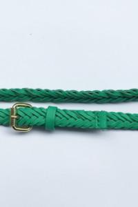 Pasek Paseczek Zielony Warkocz Pleciony H&M 102 cm...