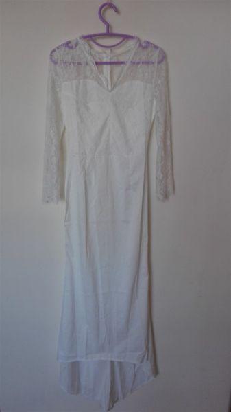 Suknie ślubne Vintage retro biala suknia ślubna z koronką 32 34