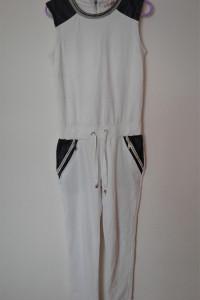 Biały dresowy długi kombinezon 36...
