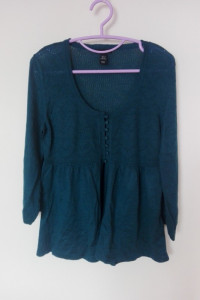 H&M Zielony cienki sweterek narzutka 36...