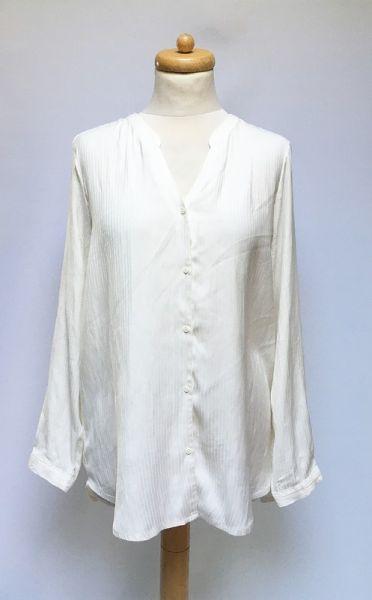 Koszule Koszula Biała Paseczki H&M Elegancka XXL 44 Mgiełka Wizytowa