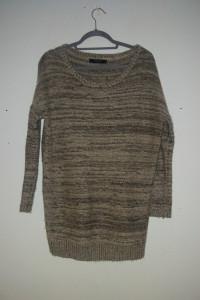 Reserved Beżowo złoty sweterek 38...