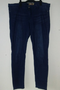 Granatowe elastyczne jeansy rurki skinny 48 50...