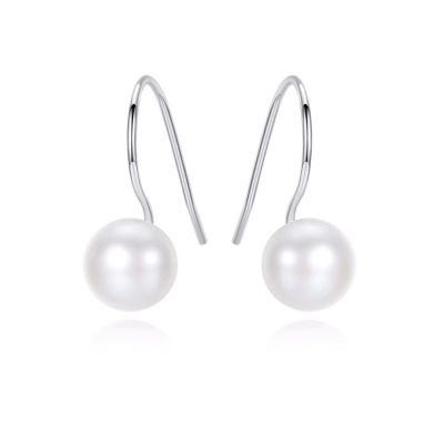 Kolczyki Nowe srebrne kolczyki srebro 925 biała perła perły prawidziwe delikatne kolczyki