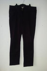 H&M Ciemnobordowe spodnie rurki 48...