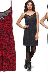 Czerwono czarna sukienka z koronką 40 lub 42...
