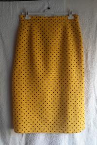 Letnia spódnica żółta w kropki na podszewce...