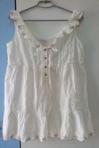 Orsay biała elegancka tunika bluzka falbanki haft r 38 nowa...