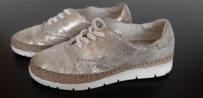 Półbuty Buty tenisówki damskie Lasocki skórzane złote 35 rozm