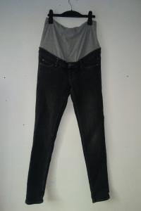 Czarne ciążowe jeansy rurki skinny 34 36...