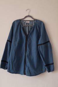 Niebieska bluzka tunika boho hippie 46...