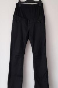 Czarne ciążowe spodnie z bawełnianym panelem 36...