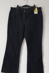 Granatowe jeansy z wysokim stanem 44...