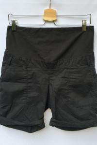 Spodenki Czarne Szorty H&M Mama S 36 Ciążowe Ciąża