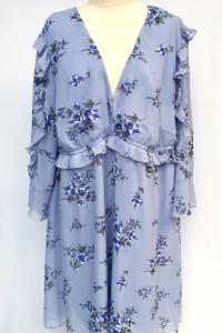 Sukienka Niebieska Kwiaty Bonprix 50 5XL Kwiatki Elegancka...
