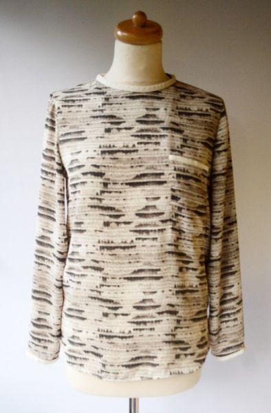 Bluzki Bluzka Zara Basic S 36 Skóra Węża Wzór Elegancka