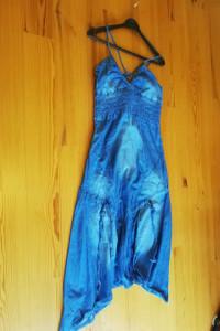 cieńka sukienka yeansowa na ramiączkach