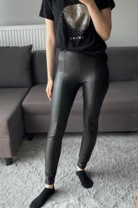 NOWE spodnie z sztucznej skóry ekoskóra S Bershka 36 czarne...