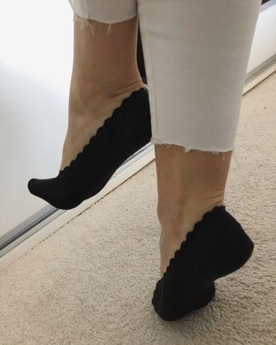 Skarpetki Śliski materiał stopki do balerinek
