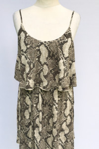 Sukienka Skóra Węża H&M M Wzór Rozkloszowana...