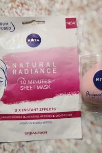 Maska rozjaśniająca i gąbka do makijażu NIVEA