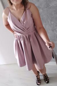 Sukienka liliowa krótka rozmiar S...