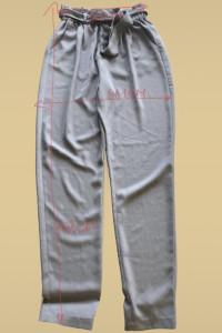 Lekkie spodnie z wysokim stanem lato...