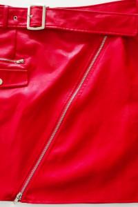 Spódnica czerwona skórzana ecoskora r42 44