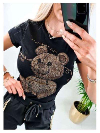 T-shirt Tshirt Teddy cyrkonie
