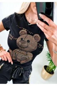 Tshirt Teddy cyrkonie