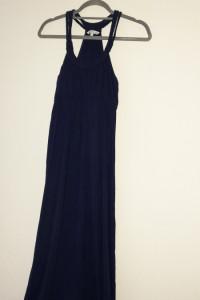 New Look Granatowa maxi suknia 40...