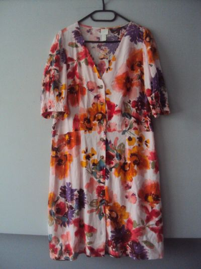 Suknie i sukienki kolorowa rozpinan sukienka