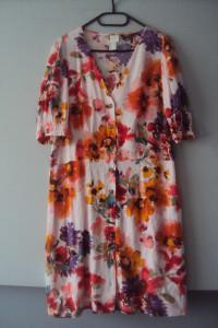 kolorowa rozpinan sukienka...