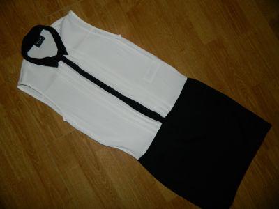 Suknie i sukienki VILA czarno biała sukienka roz XS