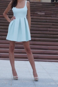 Zara krótka sukienka bez pleców roz S...