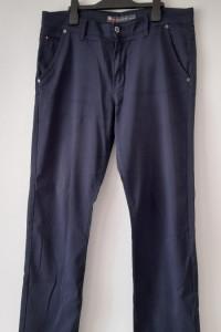 Męskie granatowe spodnie W35 L32