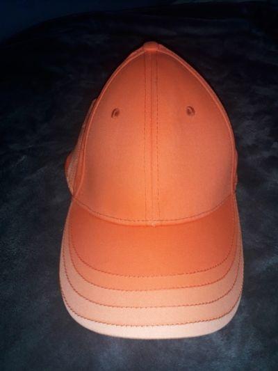 Nakrycia głowy Bawełniana pomarańczowa czapka z daszkiem regulowana