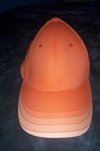 Bawełniana pomarańczowa czapka z daszkiem regulowana