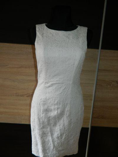 Suknie i sukienki H&M biała elegancka sukienka roz 38