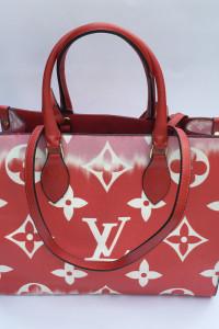 Torebka Torba Czerwona LV Louis Vuitton Logowana Shopper Bag...