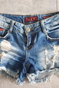 Philipp Plein spodenki jeansy dziury BDB 34 36